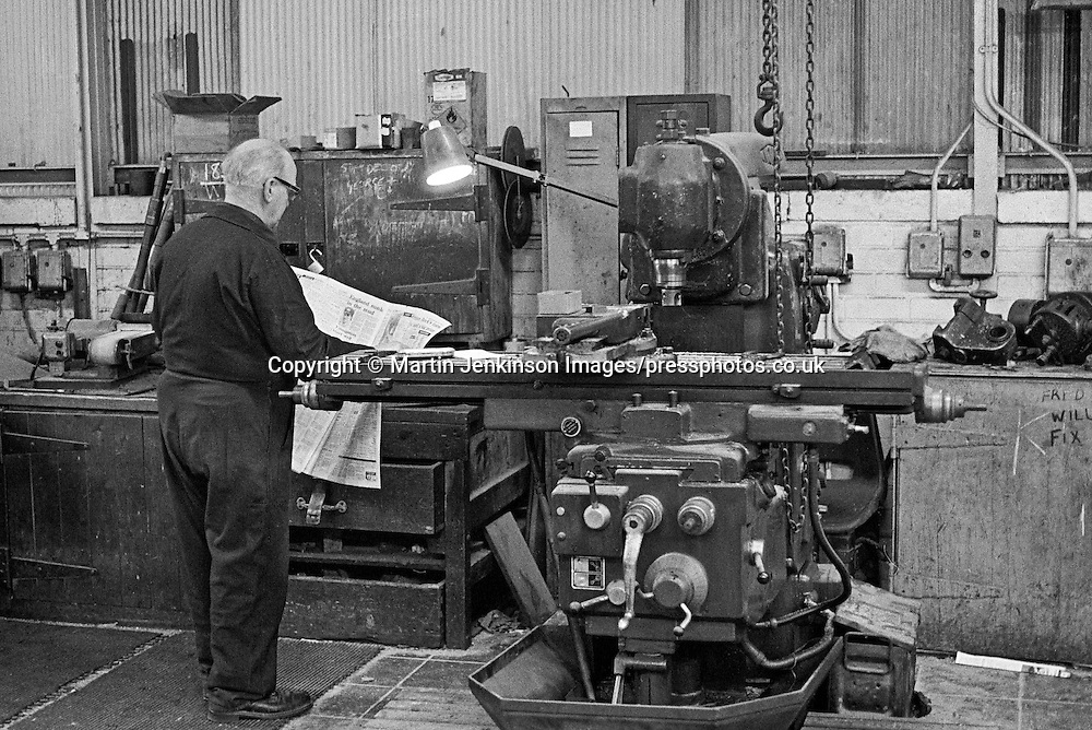 No. 2 maintenance shop at Tinsley Wire Industries Ltd (TWIL), Sheffield 1980