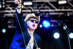 "Alabama 3 play the main stage. Sunday, Rockness 2013, the annual music festival which took place in Scotland at Clune Farm, Dores, on the banks of Loch Ness, near Inverness in the Scottish Highlands. The festival is known as ""the most beautiful festival in the world""."