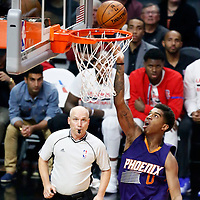 31 October 2016: Phoenix Suns forward Marquese Chriss (0) goes for the layup during the Los Angeles Clippers 116-98 victory over the Phoenix Suns, at the Staples Center, Los Angeles, California, USA.