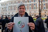 Roma, 11 Gennaio 2013.In fila per depositare i simboli dei partiti al ministero dell'Interno  in vista del voto..La  lista Tutti insieme per l'Italia