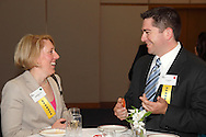 Stephanie Yenn (left) and Jon Greene, both of HORAN.during the Better Business Bureau's Eclipse Integrity Awards dinner at Sinclair Community College's Ponitz Center in downtown Dayton, Tuesday, May 14 2013.