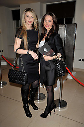 Left to right, ALIONA DEMBITCHI and ELENA PROKUDINA at a cocktail party and auction to launch the forthcoming celebrations for Mikhail Gorbachev's 80th birthday held at Christie's, 8 King Street, London on 3rd February 2011.