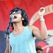 Yeaysayer performs at the 2010 Virgin Mobile festival at Merriweather Post Pavilion.