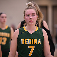 5th year guard Sara Hubenig (7) of the Regina Cougars during the Women's Basketball home game on November 11 at Centre for Kinesiology, Health and Sport. Credit: Arthur Ward/Arthur Images