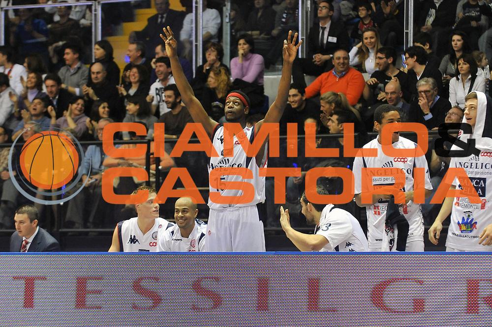 DESCRIZIONE : Biella Lega A1 2008-09 Angelico Biella Premiata Montegranaro<br /> GIOCATORE : James Gist<br /> SQUADRA : Angelico Biella<br /> EVENTO : Campionato Lega A1 2008-2009<br /> GARA : Angelico Biella Premiata Montegranaro<br /> DATA : 01/03/2009<br /> CATEGORIA : esultanza<br /> SPORT : Pallacanestro<br /> AUTORE : Agenzia Ciamillo-Castoria/A.Dealberto<br /> Galleria : Lega Basket A1 2008-2009<br /> Fotonotizia : Biella Campionato Italiano Lega A1 2008-2009 Angelico Biella Premiata Montegranaro<br /> Predefinita :