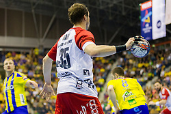 During handball match between RK Celje Pivovarna Lasko (SLO) and SG Flensburg Handewitt (GER) in 12th Round of EHF Men's Champions League 2015/16, on February 20, 2016 in Arena Zlatorog, Celje, Slovenia. Photo by Urban Urbanc / Sportida