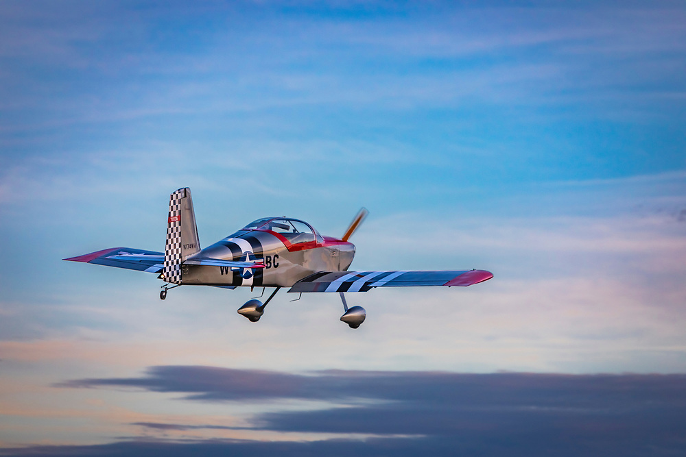 Van's RV-6., just after takeoff.  <br />