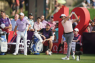 Tommy Fleetwood (ENG) in action during the second round of the Omega Dubai Desert Classic, Emirates Golf Club, Dubai, UAE. 25/01/2019<br /> Picture: Golffile | Phil Inglis<br /> <br /> <br /> All photo usage must carry mandatory copyright credit (© Golffile | Phil Inglis)