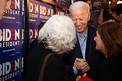 May 13, 2019 - Hampton, New Hampshire, U.S - Democratic Presidential candidate JOE BIDEN greets supporters at The Community Oven.   (Credit Image: © Allison Dinner/ZUMA Wire)