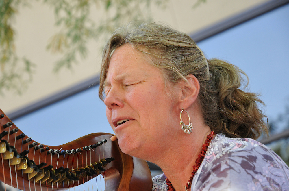 Adirondack Harpist Martha Gallagher in concert at the 2012 Tucson Folk Festival. Event photography by Martha Retallick.