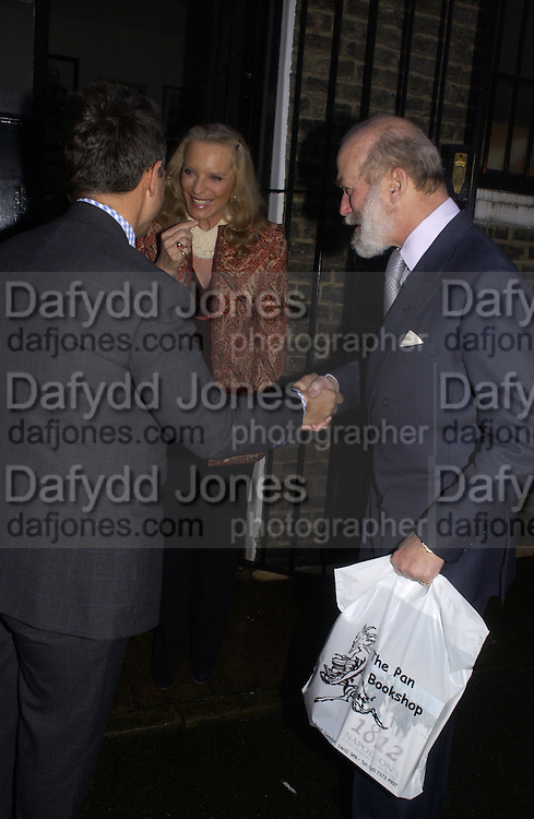 Tomasz Starzeweski,  Princess Michael of Kent and Prince Michael of Kent, , 1812 Napoleon's Fatal March on Moscow by Adam Zamoyski book launch. Avenue Studios. Fulham Rd. 5 April 2004. ONE TIME USE ONLY - DO NOT ARCHIVE  © Copyright Photograph by Dafydd Jones 66 Stockwell Park Rd. London SW9 0DA Tel 020 7733 0108 www.dafjones.com