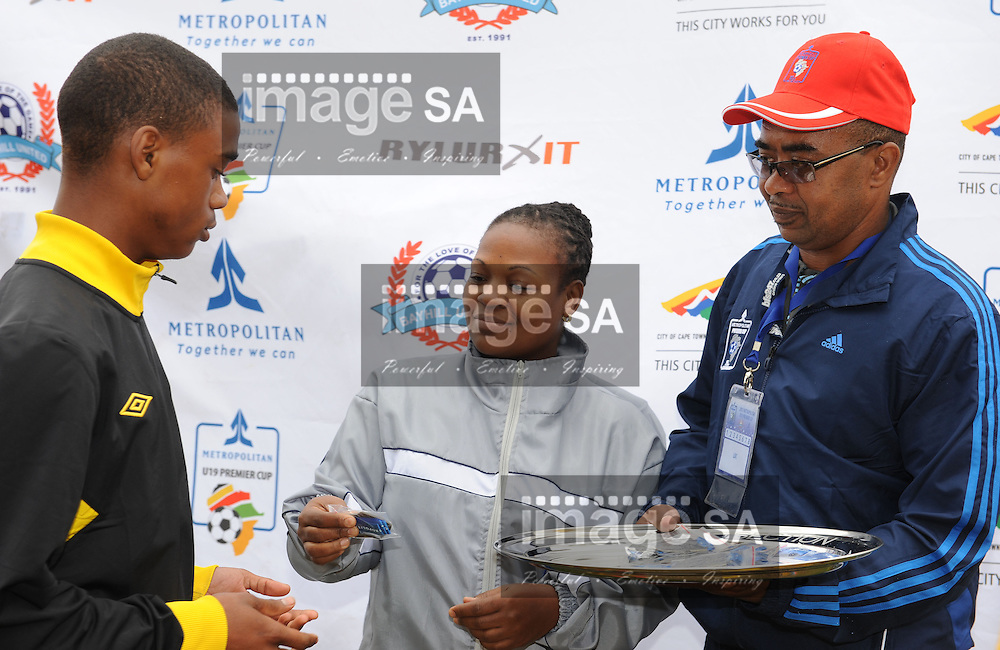 CAPE TOWN, South Africa - Monday 1 April 2013, during the plate final match between Milano and Cape Town All Stars in 25th Metropolitan Premier Cup soccer tournament taking place at Erica Park Sports Complex in Belhar..Photo by Roger Sedres/ ImageSA
