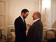TOM FORD; SIR PHILIP GREEN, Dinner to mark 50 years with Vogue for David Bailey, hosted by Alexandra Shulman. Claridge's. London. 11 May 2010