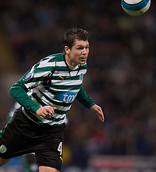 BOLTON, ENGLAND - Thursday, March 6, 2008: Sporting Clube de Portugal's Anderson Polga during the UEFA Cup Round of 16 1st Leg match at the Reebok Stadium. (Pic by David Rawcliffe/Propaganda)