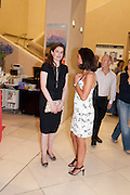 VIOLET FRASER; BARBARA PANSADORO, Tate Britain Summer party. Tate. Millbank. 27 June 2011. <br /> <br />  , -DO NOT ARCHIVE-© Copyright Photograph by Dafydd Jones. 248 Clapham Rd. London SW9 0PZ. Tel 0207 820 0771. www.dafjones.com.