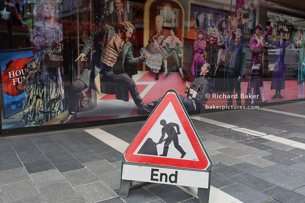 The UK government has announced a Coronavirus pandemic financial rescue package for the Arts industry, a £1.15bn support for cultural organisations in England which is made up of £880m in grants and £270m of repayable loans. But venues such as Cameron Mackintosh's Gieldgud Theatre on Shaftesbury Avenue in London's West End Theatreland, will remain closed for the foreseeable future, on 6th July 2020, in London, England. The arts industry supports 137,250 jobs and is worth £21.2bn in direct turnover.