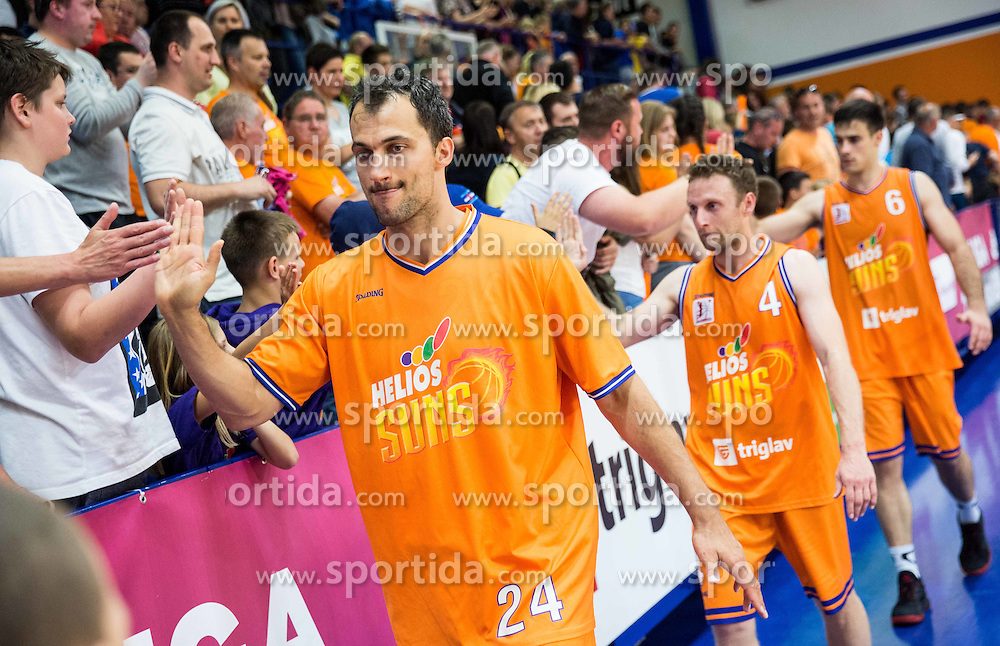 Zeljko Zagorac of KK Helios Suns looks dejected after the 2nd Leg basketball match between KK Helios Suns and KK Zlatorog Lasko in Final of Nova KBM Champions League  2015/16, on May 31, 2016 in Hala Komunalnega centra, Domzale, Slovenia Photo by Vid Ponikvar / Sportida