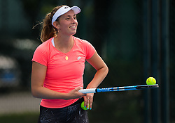 September 30, 2018 - Elise Mertens of Belgium during practice at the 2018 China Open WTA Premier Mandatory tennis tournament (Credit Image: © AFP7 via ZUMA Wire)