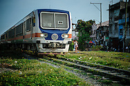Philippines, Metro Manila. Train in Bicutan.