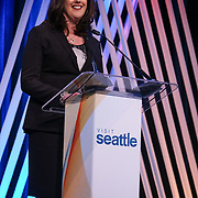 Visit Seattle Annual Meeting 2018. Keri Robinson (Visit Seattle Board Vice Chair). Photo by Alabastro Photography.