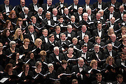 Photo by Michael R. Schmidt-Elgin, IL-March 22, 2015<br />The Chicago Bar Association Symphony Orchestra &amp; Chorus along with the Elgin Master Chorale sing during the performance &quot;Something Wonderful&quot; Sunday afternoon in Elgin. The performance featuring the music of Rodgers &amp; Hammerstein will also be performed at Orchestra Hall Symphony Center in Chicago on April 26 2015.