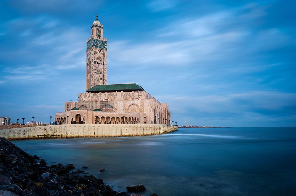 CASABLANCA, MOROCCO - CIRCA APRIL 2018: Mosque  Hassan II in Casablanca.