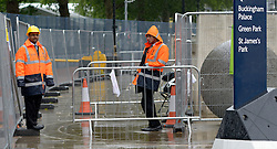© Licensed to London News Pictures. 18/07/2012. Westminster, UK Security staff on Horseguards. Soldiers, police and security contractors perform security checks around Olympic sites in Westminster today, 18th July 2012. Photo credit : Stephen Simpson/LNP