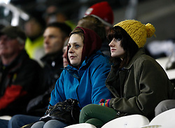 Bristol City fans in the cold- Photo mandatory by-line: Matt Bunn/JMP  - Tel: Mobile:07966 386802 19/04/2013 - Hull City v Bristol City - SPORT - FOOTBALL - Championship -  Hull- KC Stadium