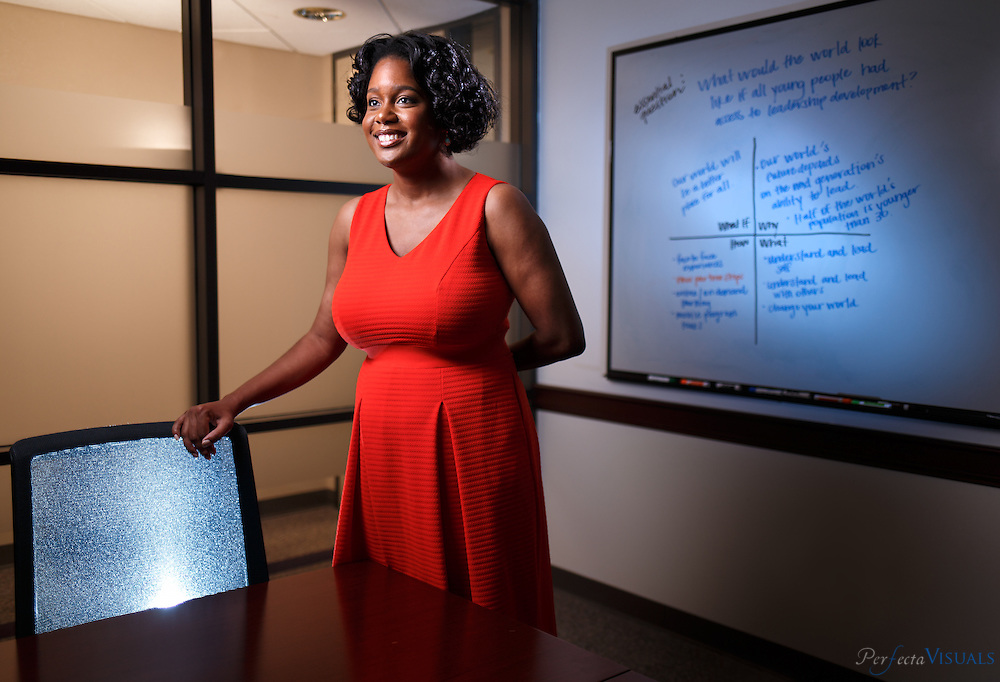 Brandi Nicole Johnson on the campus of the Center for Creative Leadership in Greensboro, N.C., on Wednesday, April 20, 2016. Johnson helps to develop and enact custom leadership programs at the Center for Creative Leadership.