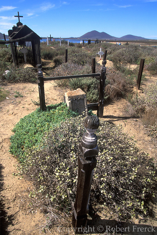 MEXICO, BAJA CALIFORNIA 19th C. graves English in San Quintin Valley