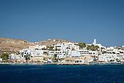 The town of Adamantas on Milos Island, Greece.