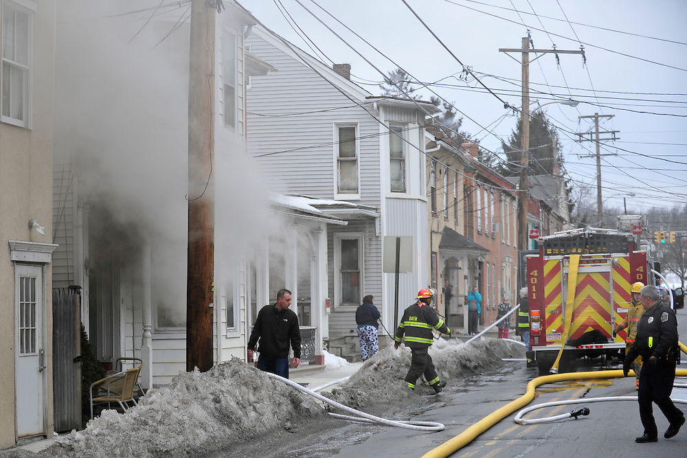 3/3/2014 Bath, PA Fire crews were called to 128 South Chestnut Street in Bath for a house fire Monday morning. Photo   CHRIS POST