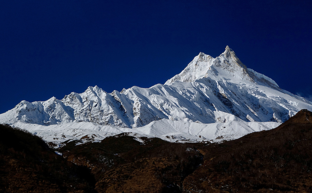 Manaslu, at 8156 meters (26,759 feet) high is the eighth highest peak on the planet.