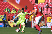 Brighton central midfielder Beram Kayal spreads the play during the Sky Bet Championship match between Charlton Athletic and Brighton and Hove Albion at The Valley, London, England on 23 April 2016. Photo by Bennett Dean.