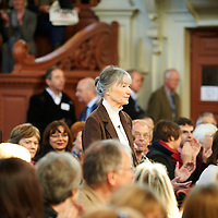 Anne Tyler, American Pulitzer Prize winning author and writer at The Oxford Literary Festival at The Sheldonian Theatre. Her new novel The Beginner's Goodbye is published in April 2012. Taken 1st April 2012<br /> <br /> Credit Geraint Lewis/Writer Pictures<br /> <br /> WORLD RIGHTS