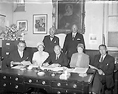 1957 - Findlater general meeting and staff