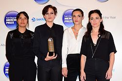 Mercury Prize. <br /> Savages attends the Barclaycard Mercury Prize at The Roundhouse, London, United Kingdom. Wednesday, 30th October 2013. Picture by Nils Jorgensen / i-Images