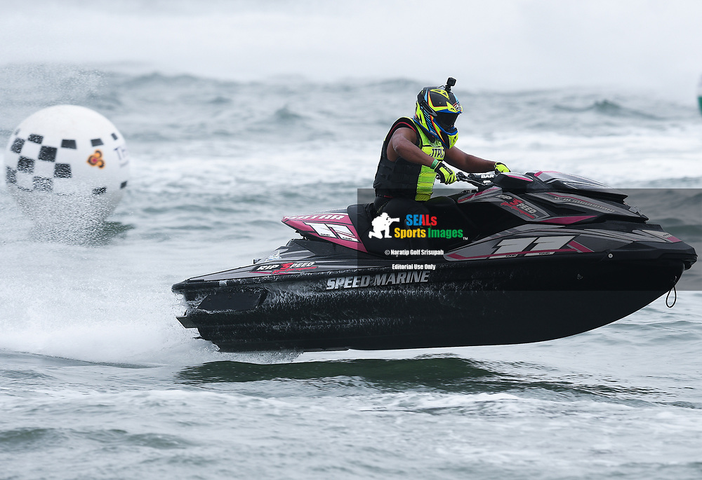 PATTAYA, THAILAND - DECEMBER 09: Waleed Alsharshani (11) of Qatar in action during the Pro Runabout GP Moto3 at the Thai Airways International Jet Ski World Cup 2018, Jomtien Beach, Pattaya, Thailand on December 09, 2018. <br /> .<br /> .<br /> .<br /> (Photo by: Naratip Golf Srisupab/SEALs Sports Images)<br /> .<br /> Any image use must include a mandatory credit line adjacent to the content which should read: Naratip Golf Srisupab/SEALs Sports Images