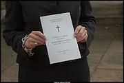 Memorial service for Mark Shand.  . St. Paul's Knightsbridge. September 11 2014.