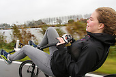 Ligfietsen - riding a recumbent