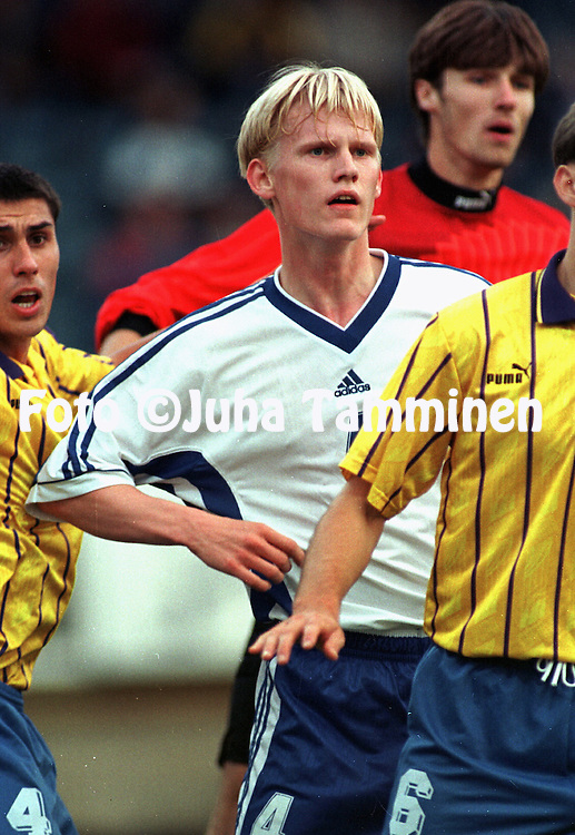 04.09.1998, Kupittaa, Turku, Finland. Olympic / UEFA Under-21 European Championship qualifying match, Finland v Moldova..Janne R?s?nen - Finland U-21.©JUHA TAMMINEN