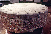 MEXICO, MEXICO CITY, MUSEUM Aztec: Tizoc Stone dedicated to sun