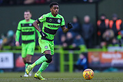 Forest Green Rovers Reece Brown(10) on the ball during the EFL Sky Bet League 2 match between Forest Green Rovers and Yeovil Town at the New Lawn, Forest Green, United Kingdom on 16 February 2019.