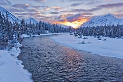 Kathleen River in winter, Kluane National Park, Yukon
