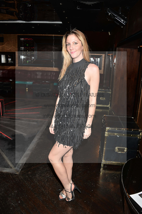 Fashion designer PATRICIA GOMEZ-GARCIA at a party in aid of the Youth at Risk charity held at Raffles, 287 King's Road, London on 27th November 2013.