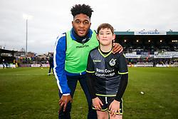 Mascot photo with Ellis Harrison of Bristol Rovers - Rogan/JMP - 09/12/2017 - FOOTBALL - Memorial Stadium - Bristol, England - Bristol Rovers v Southend United - EFL Sky Bet League One.