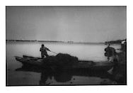 Collecting lake grass on Lake Taihu, Jiangsu Province, China. 1994