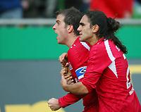 Fotball<br /> Bundesliga <br /> 17.02.2007<br /> Foto: Witters/Digitalsport<br /> NORWAY ONLY<br /> <br /> 0:1 Jubel Rafael van der Vaart, Juan Pablo Sorin<br /> Bundesliga Werder Bremen - Hamburger SV 0:2
