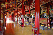 Interior of the Mieu temple devoted to ten Emperors of the Nguyen dynasty, Hue Citadel / Imperial City, Hue, Vietnam