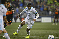 October 8, 2018 - Seattle, Washington, U.S - Seattle's NOUHOU (5) chases down a ball as the Houston Dynamo visits the Seattle Sounders in a MLS match at Century Link Field in Seattle, WA. Seattle won the match 4-1. (Credit Image: © Jeff Halstead/ZUMA Wire)